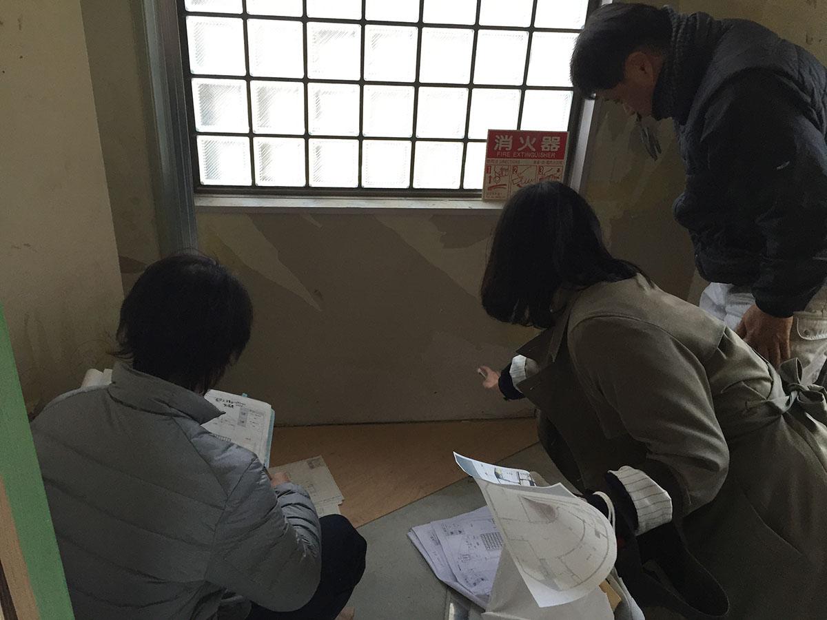 茨木市眼科の家具工事1