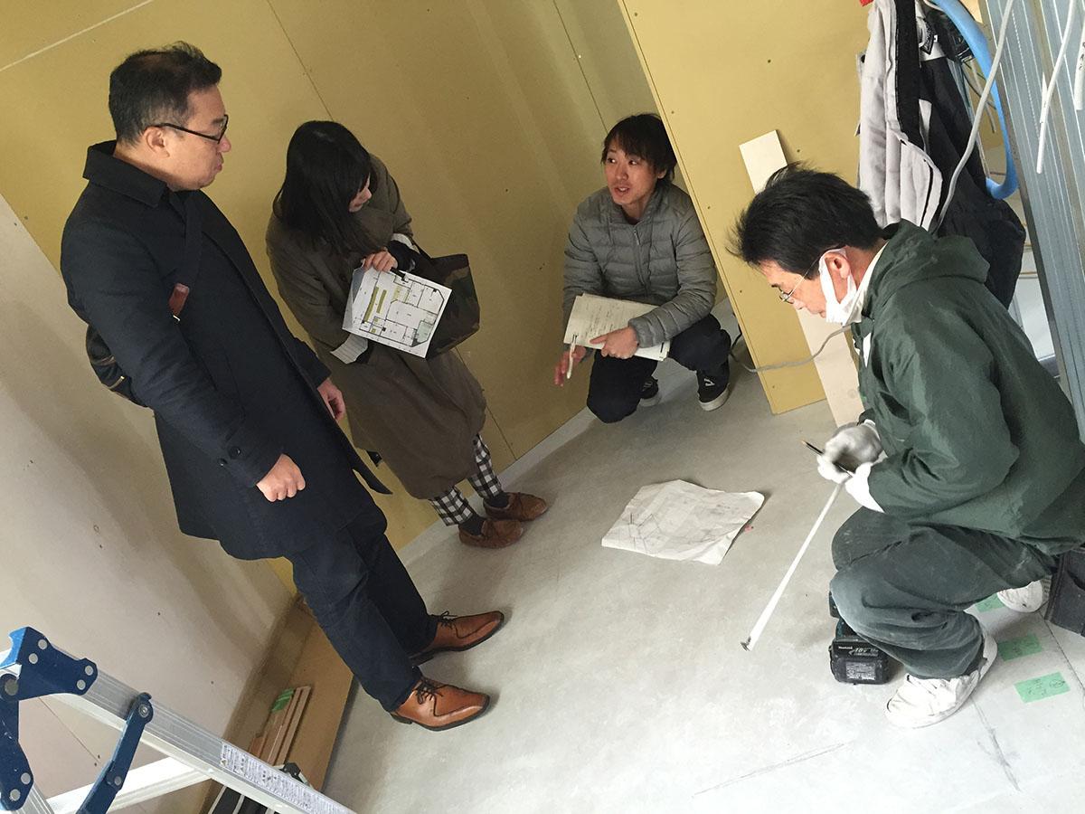 茨木市眼科の家具工事2