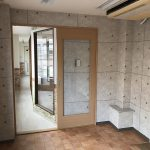 池田市 美容室のゾーニングと平面図