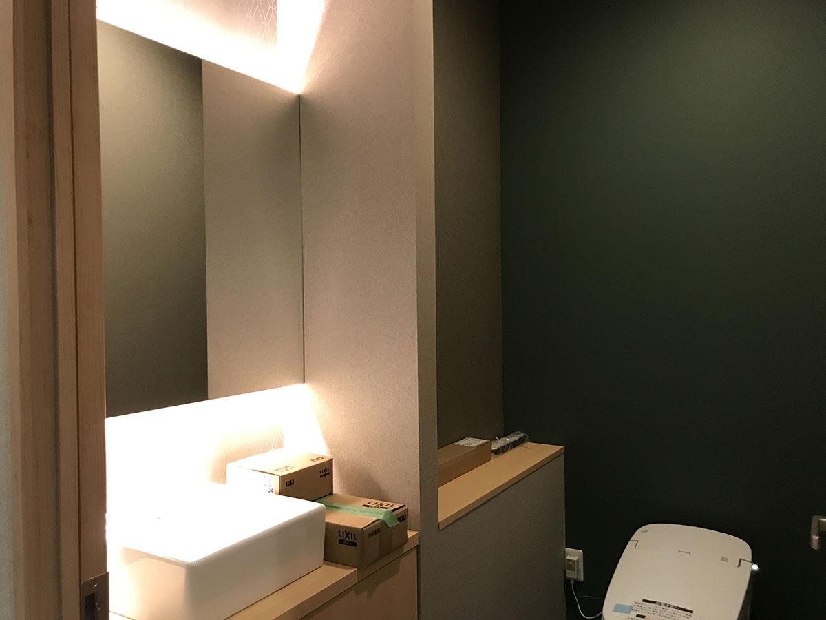 京都のエステサロンのトイレ