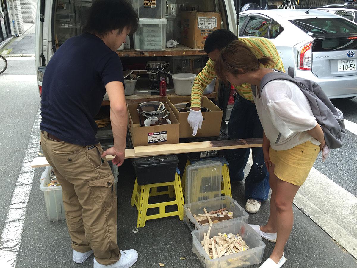 大阪梅田の美容室の塗装工事