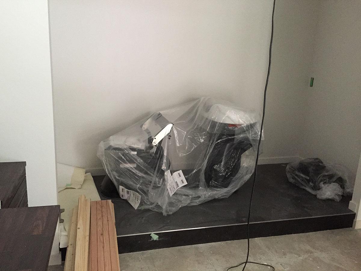 大阪梅田の美容室のシャンプー台の設置