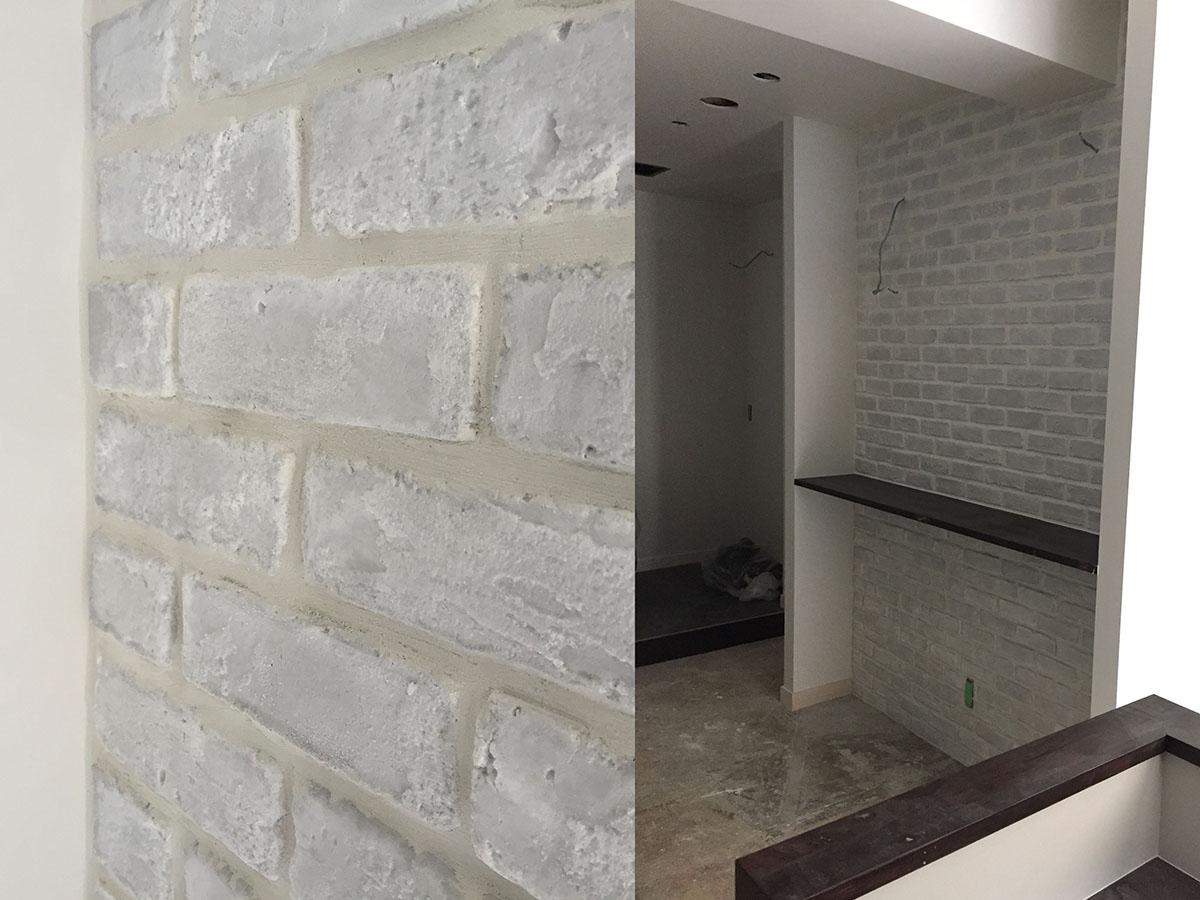 店舗デザイン・店舗設計した美容室のタイル工事
