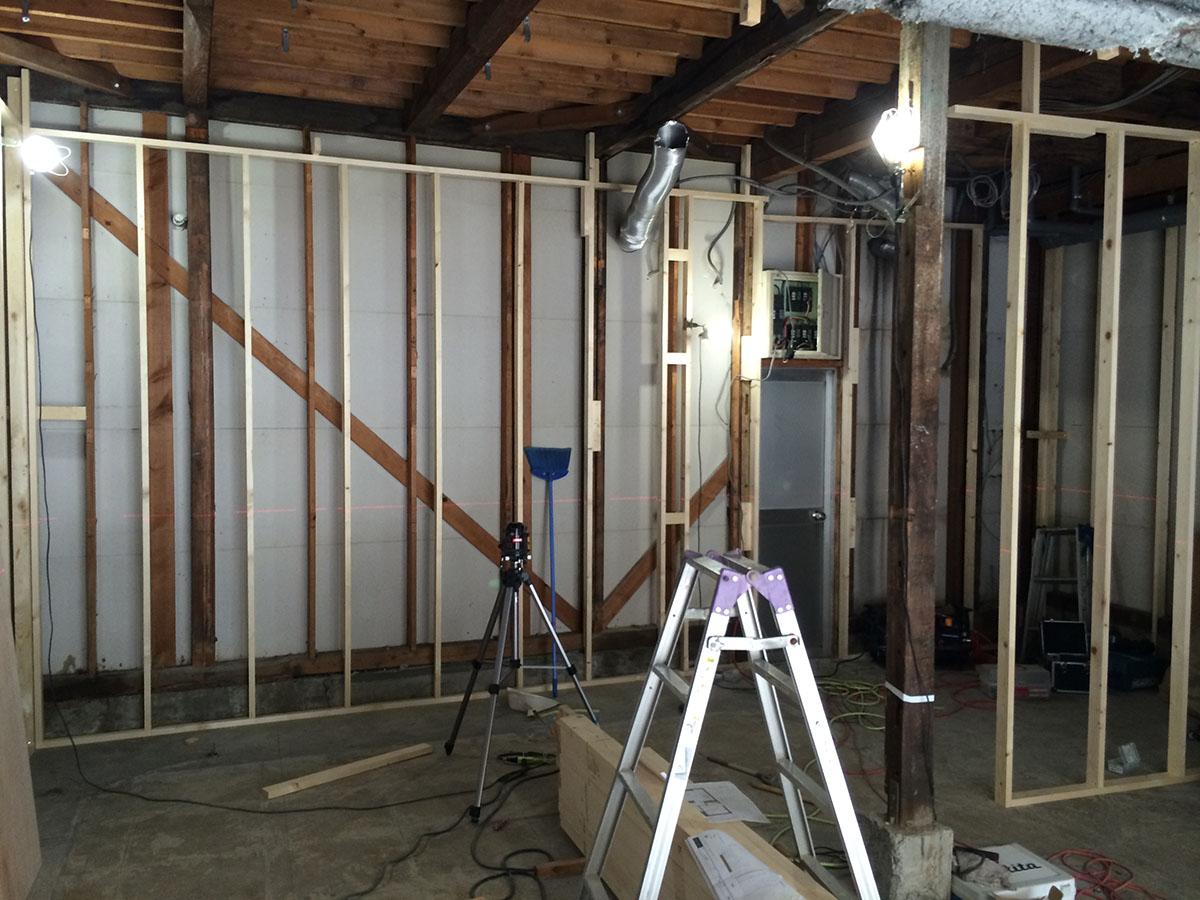 内装工事・改装工事した美容室の間仕切り工事