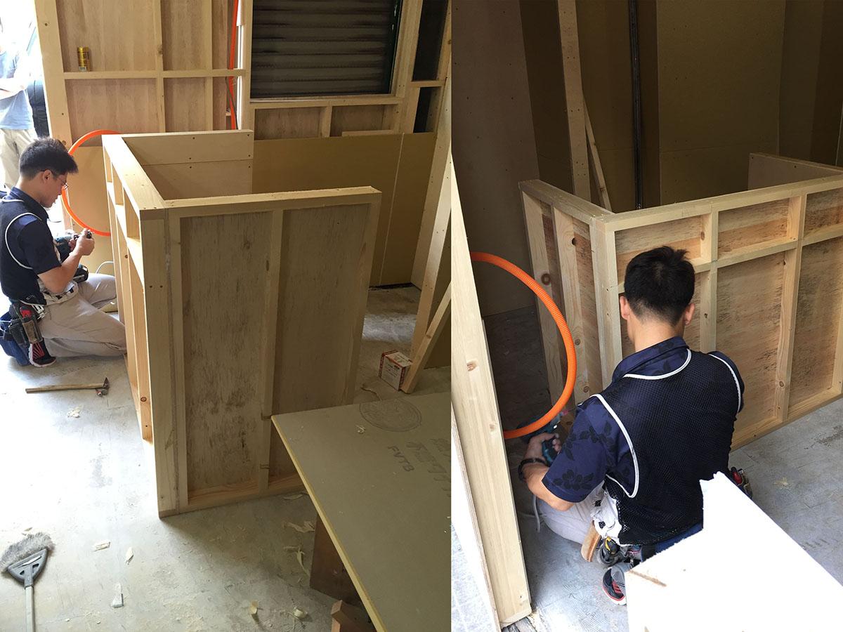 大阪梅田の美容室の造作家具