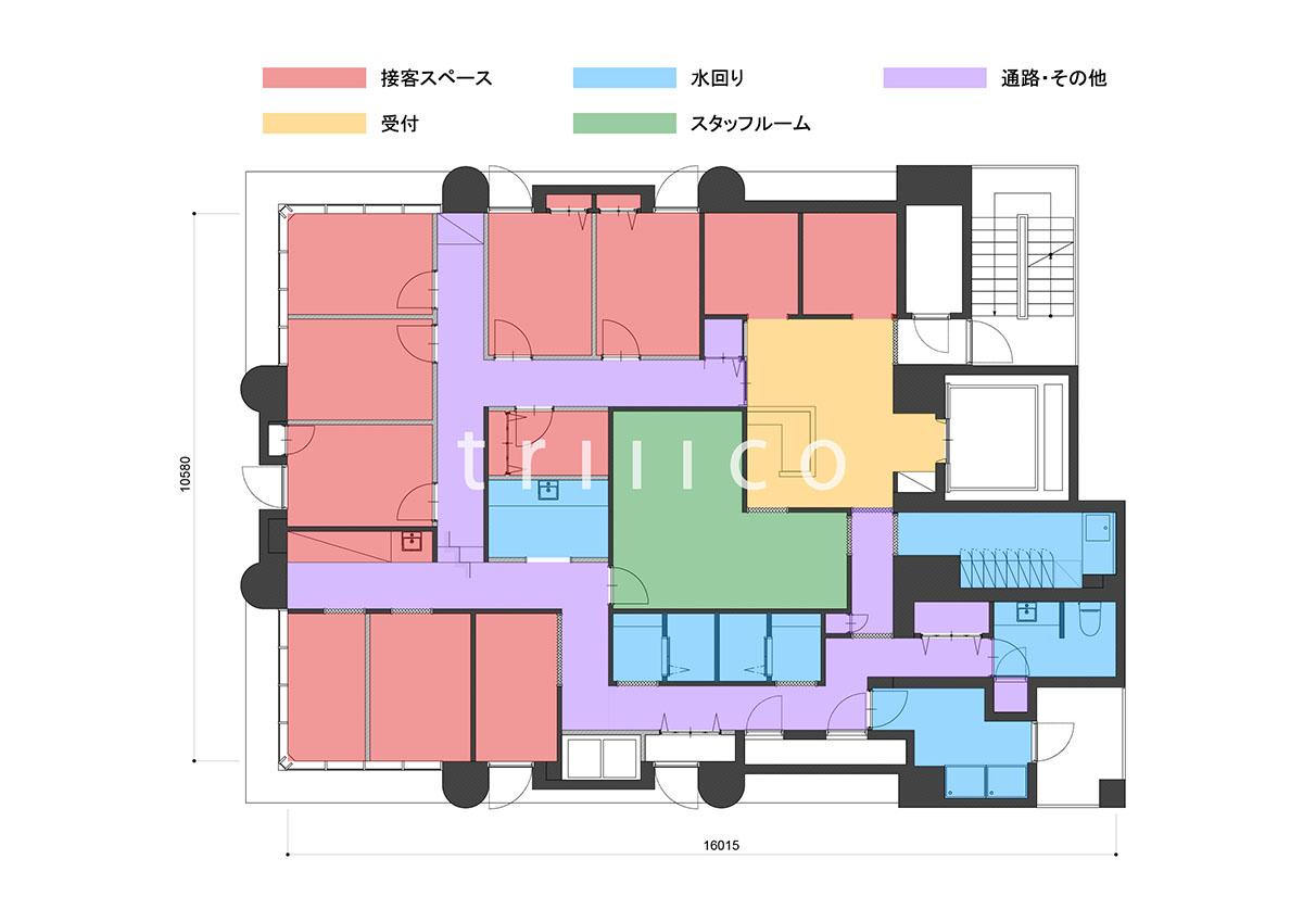 心斎橋エステサロンの平面図・プランニング