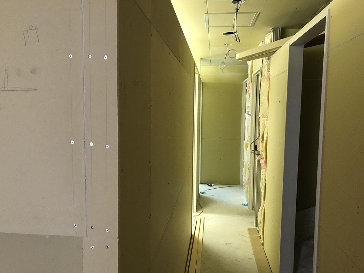 高槻鍼灸院の内装工事
