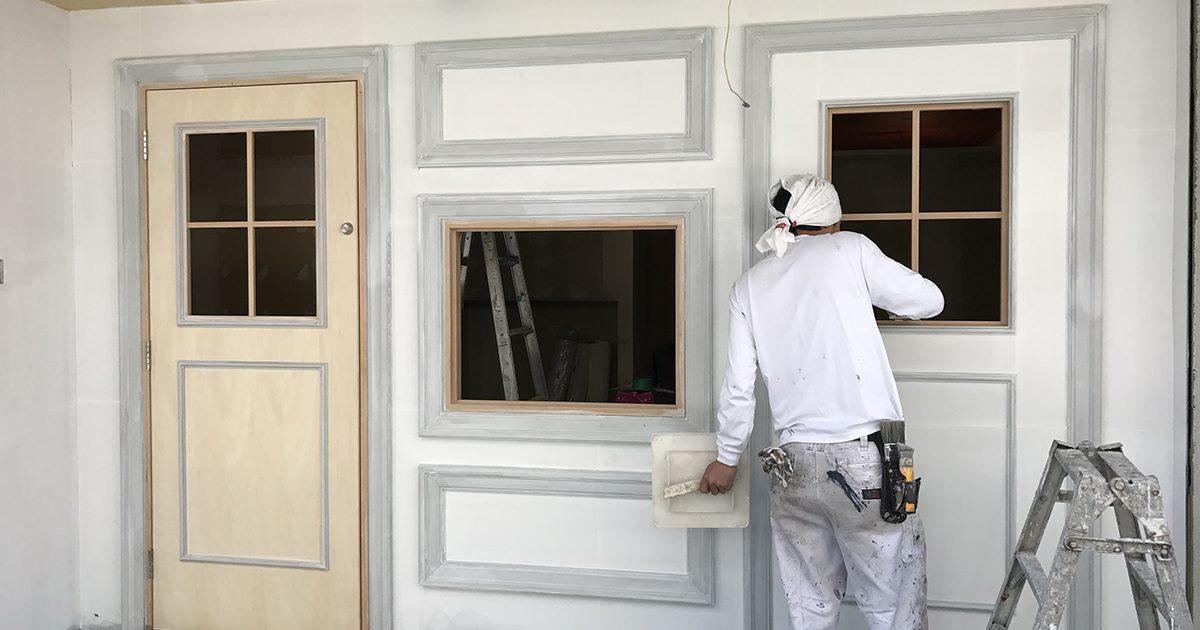 鍼灸院の外壁塗装工事