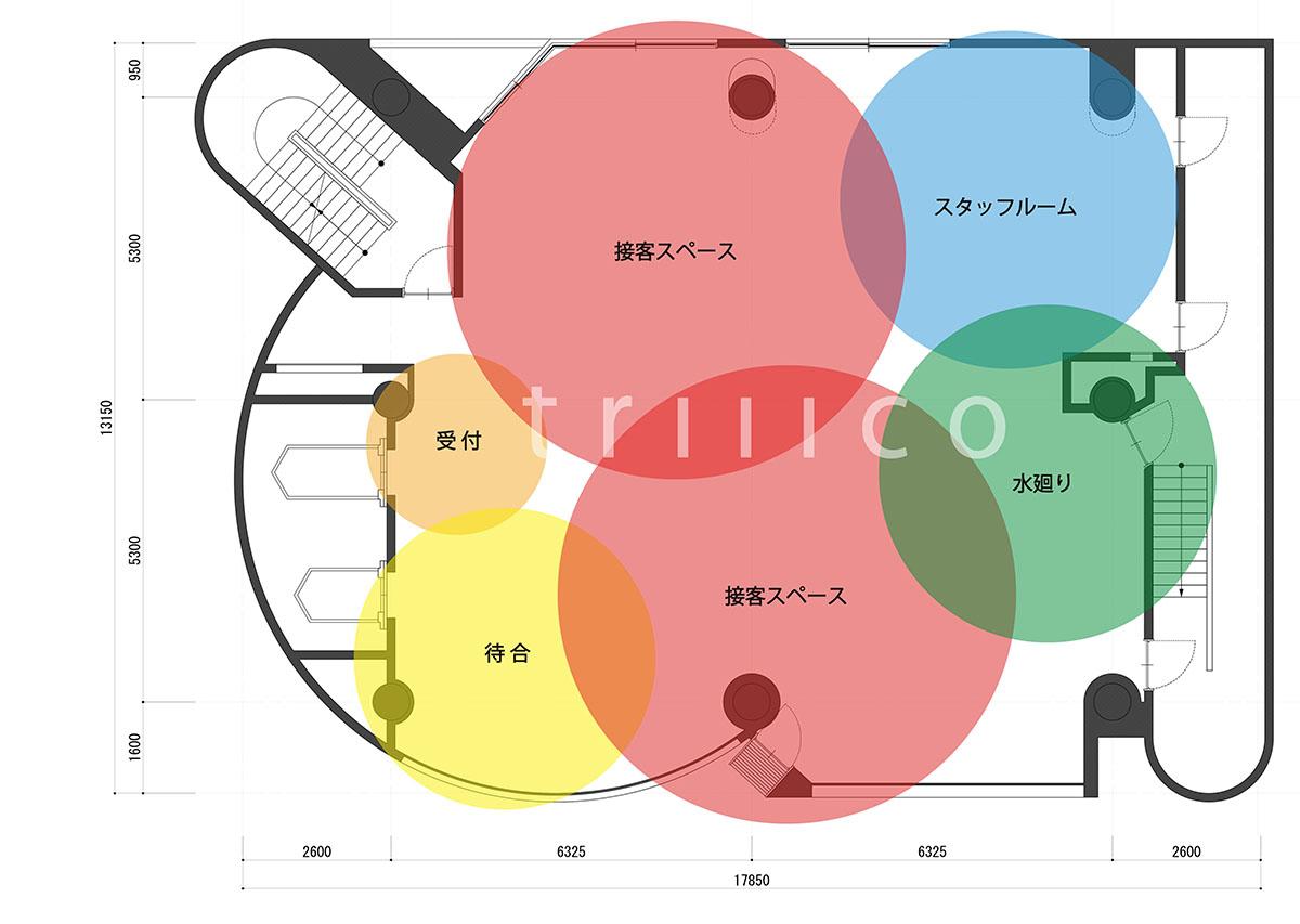 大阪市中央区心斎橋の美容室・理容室のゾーニング