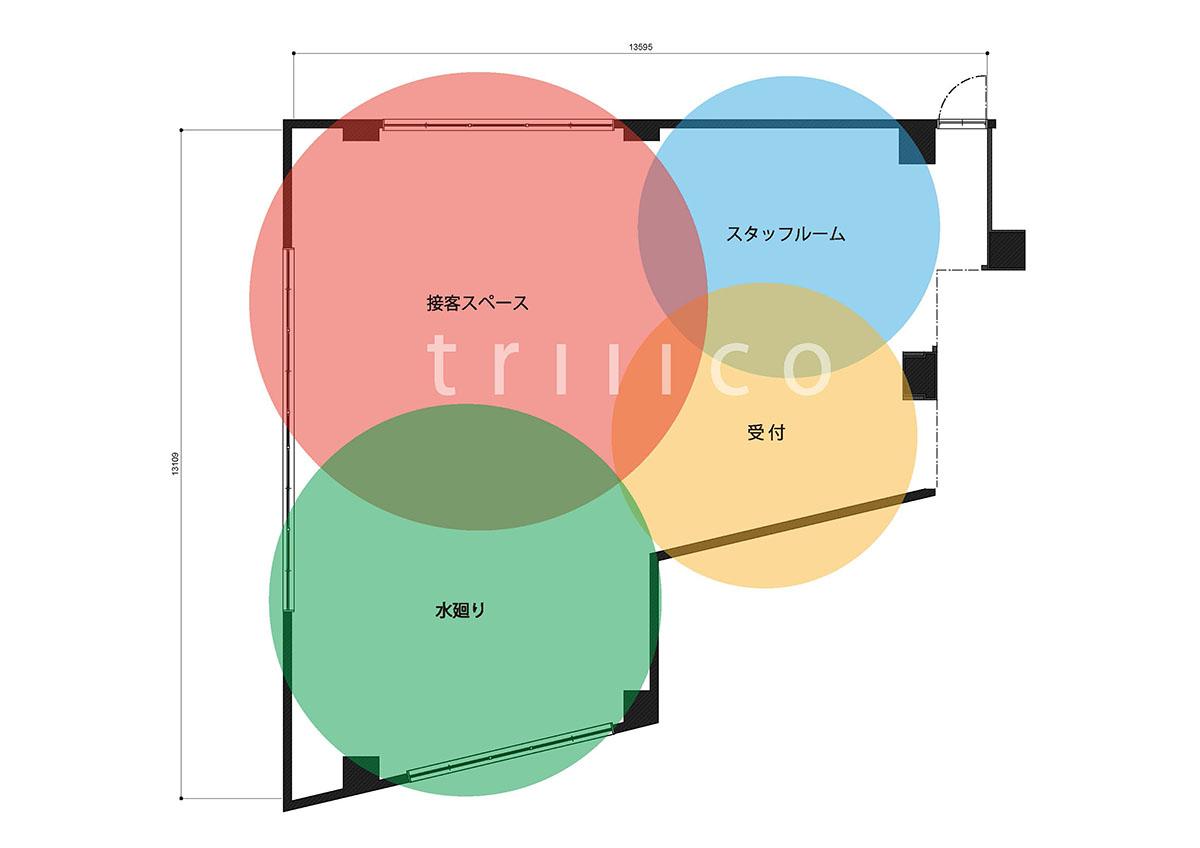 武庫之荘エステサロンのゾーニング
