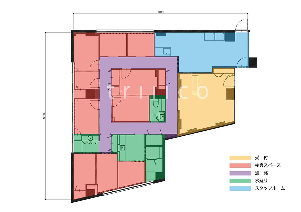 武庫之荘エステサロンのプラニング・平面図