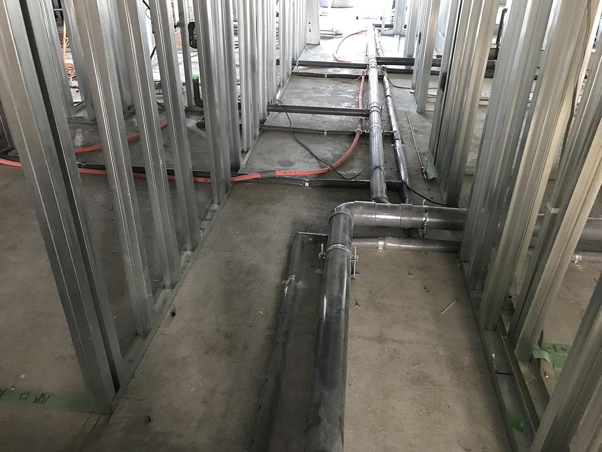 武庫之荘エステサロンの給排水設備工事