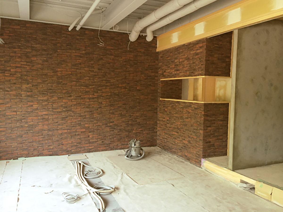 和泉中央の美容室のタイルの工事