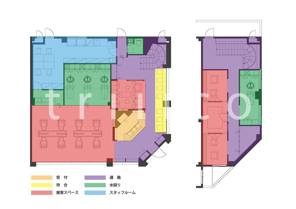 和泉中央の美容室のプラン・平面図