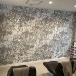 三田市美容室の壁紙貼替え工事