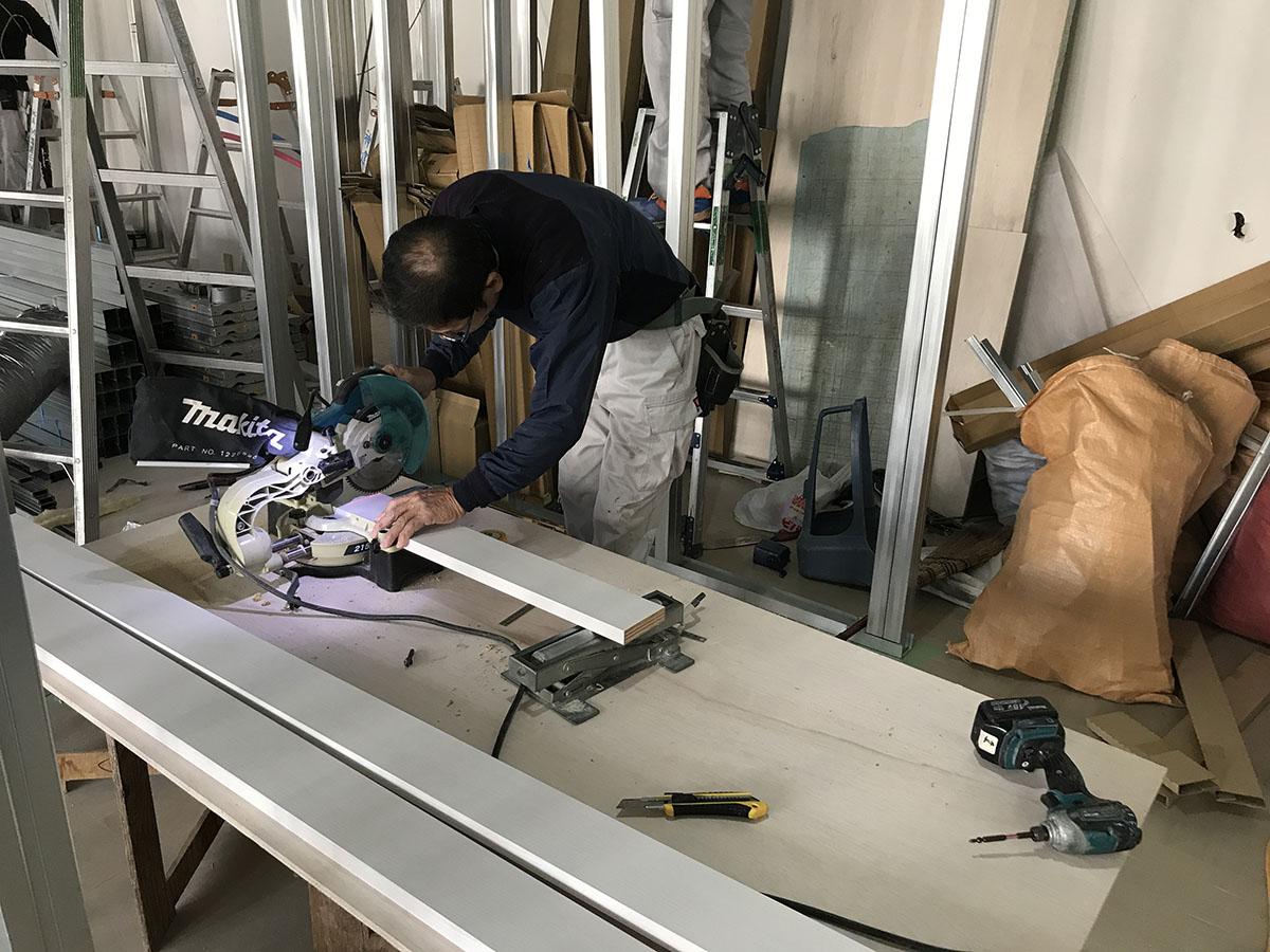 高槻エステサロンのショップデザイン・内装工事・建具枠取付工事