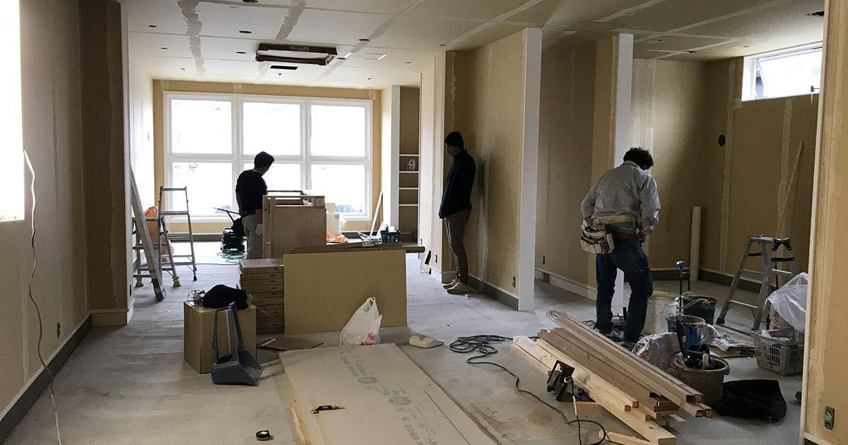 三木市の美容室・理容室で間仕切工事