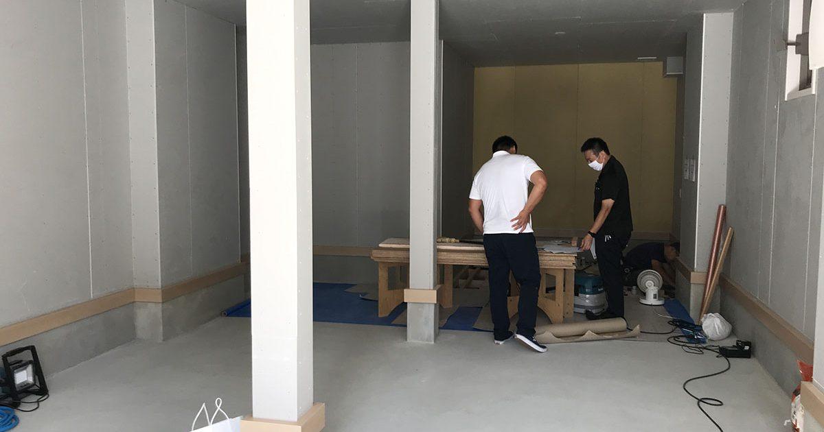 伊丹市フィットネスジムの設備工事