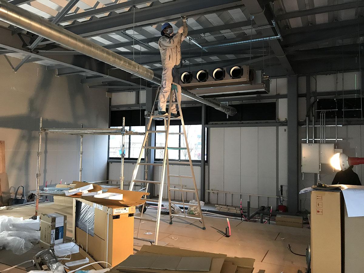 大阪府北摂エリアの動物クリニックの空調・換気の設備工事